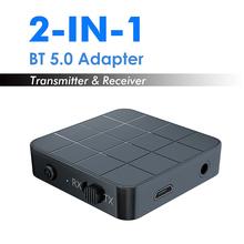 2 w 1 Bluetooth 5 0 nadajnik i odbiornik Audio 3 5mm adapter bezprzewodowy muzyka Stereo Audio Dongle do telewizora samochód domowe głośniki Audio tanie tanio MPOW Pojedyncze Brak TYPE-C 2 In 1 Bluetooth Receiver Transmitter Bluetooth Audio Transmitter Receiver KN321 BT5 0 A2DP AVRCP (receiver mode only)