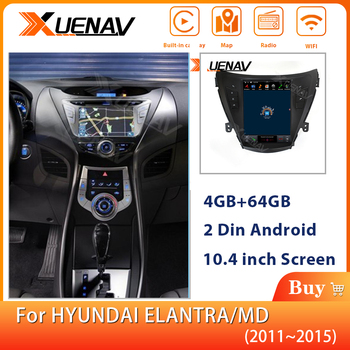 XUENAV 2Din Android System Car Stereo Autoradio Multimedia Player FOR-HYUNDAI ELANTRA/MD 2011-2015 Car GPS Navigation MP4 Player image