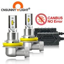 CNSUNNYLIGHT CANBUS LED 자동차 H11/H8 9005 9006 헤드 라이트 전구 오류 없음 2400Lm 24w/쌍 6000K 흰색 HB3 HB4 H9 H16jp 자동 전조등