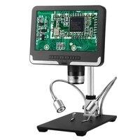 AD206 7 pulgadas pantalla LCD 2.0MP 200X microscopio Digital inspección Industrial microscopio electrónico teléfono móvil reparación PCB Solde Pantalla LCD de portátil Ordenadores y oficina -