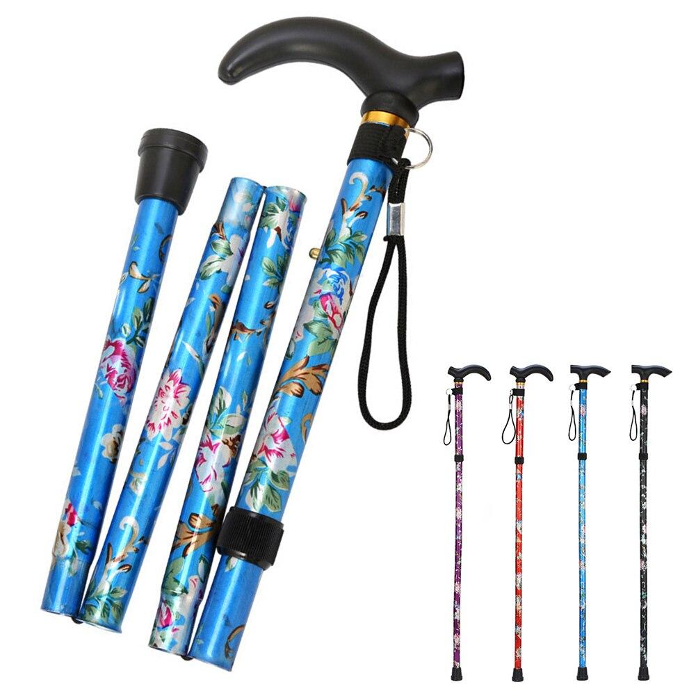 Light Weight Foldable Shrinkable Adjustable Walking Stick Crutch Cane