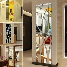 W kształcie drzewa Art 3D lustro naklejki ścienne zdejmowany akryl naklejki ścienne domu salon szafa sypialniana DIY naklejki dekoracyjne tanie i dobre opinie CN (pochodzenie) Nowoczesne Akrylowe Jednoczęściowy pakiet PLANT