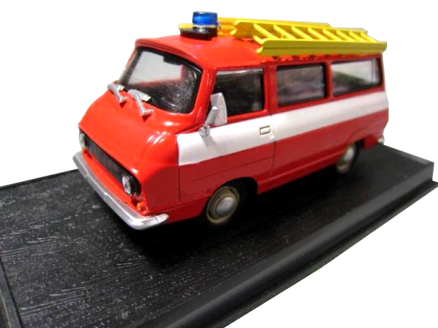 Rare  Special Offer  1:43 Czech 1981 S DA 1203 Fire Truck Model  Alloy Collection Model