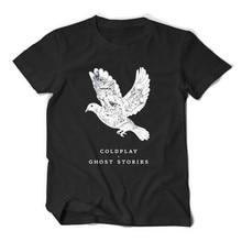 Coldplay Ghost stories ROCK & ROLL BAND T SHIRT HIP HOP MEN TEE shirt  fine cotton summer dress t-shirt O-neck music man t-shirt виниловая пластинка coldplay ghost stories