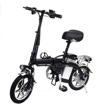Profesjonalne 14 cal elektryczny rower 120KG maks bateria 48 V 10AH materiał ze stopu aluminium maksymalna prędkość do 40 h tanie i dobre opinie cacoonlisteo Innych As describe 52653562 Battery 48V 10AH 1320x260x650MM 40-50KM H 50-60KM 3-5H Battery Bike Support