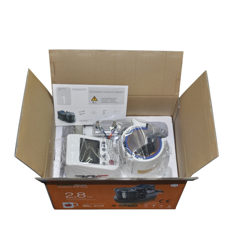 Пневматическая автоматическая термопресс машина для кружек 11 унций, термопереводная кофейная волшебная кружка, печатная сублимационная в... - 6