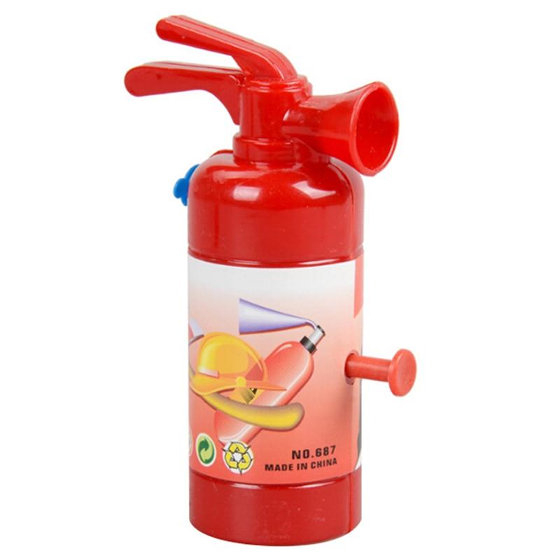 Simulation Fire Extinguisher Toy Plastic Water Gun Mini Spray Style Exercise Toys Gift Bathtub Bomberos Beach Squirt Toy 11 Cm