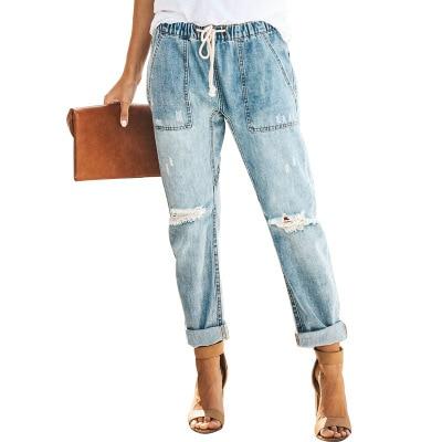 Womens Ladies Fashion Sexy High Waist Stretch Pencil Denim Pants Slim Skinny Jeans
