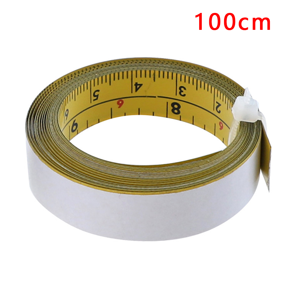 1-5m Inch/Metric Self -Adhesive Tape Measure Steel Miter Scale Miter Track Ruler