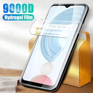 "Image 1 - 1 3pcs readmi c21 hydrogel film readmy c21 anti scratch screen protector film not glas for oppo realme c21 c 21 21c film 6.5"""