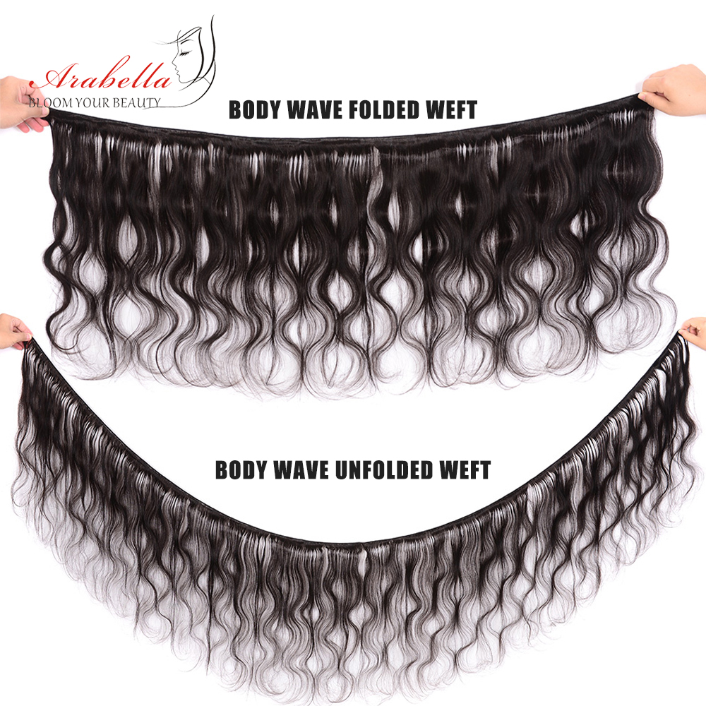 4x4 Transparent Lace Closure With   Bundles  Body Wave Hair 3 Bundles With HD Closure Arabella  Hair 5