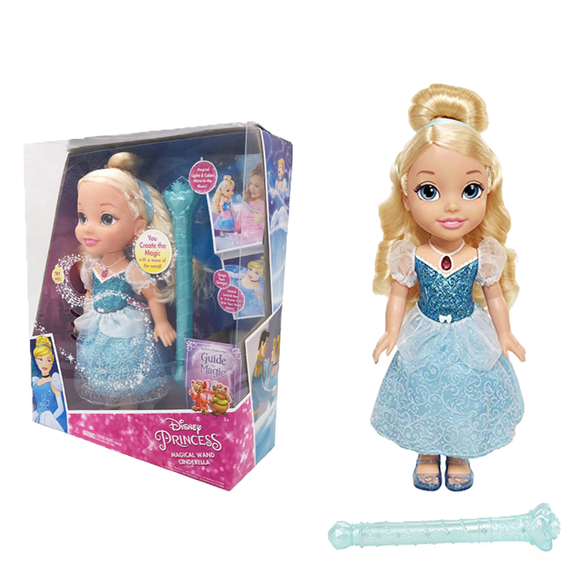 Disney Princess Action Figures Toys Cinderella Music sing Light Doll for girls Baby Toys Decoration Children Christmas Gift