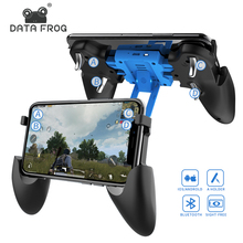 DATA FROG Bluetooth Rechargable Game Controller For Pubg Gamepad iOS 2-in-1 and Stand iphone Android Phone