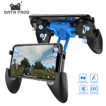 DATA FROG Bluetooth Rechargable Game Controller For Pubg Gamepad For iOS 2-in-1 Gamepad and Stand For iphone Gamepad Joystick(China)