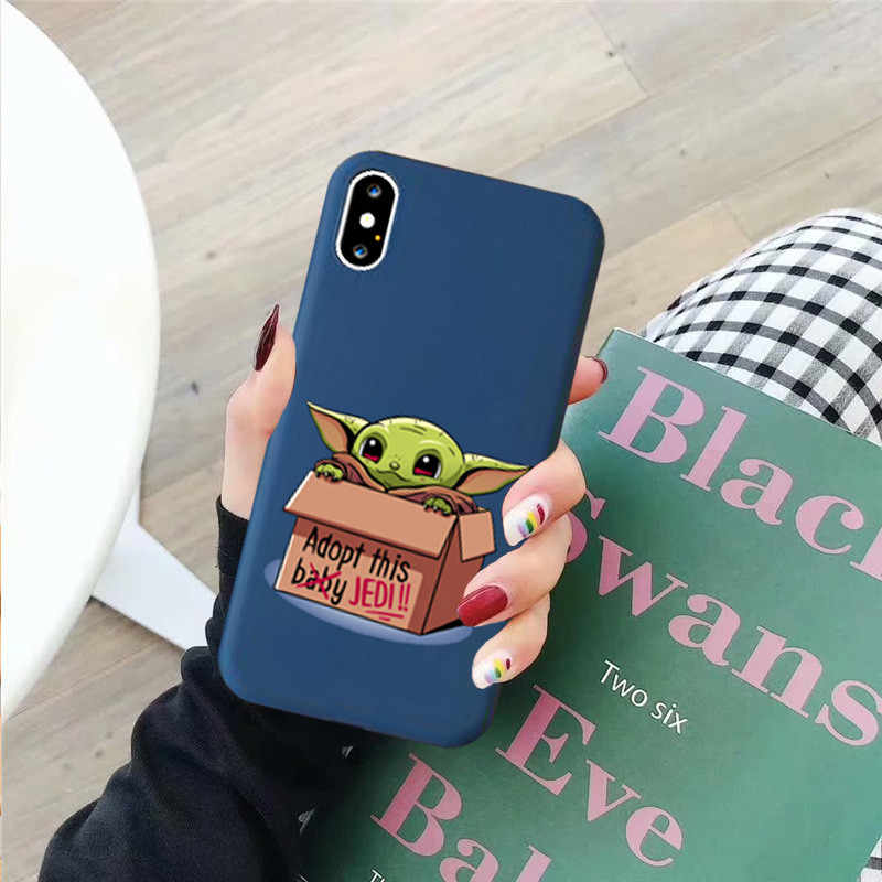 JAMULAR Cartoon Cute Baby Yoda Meme Phone Case For iPhone X 11 Pro XS MAX X XR 7 6 6s 8 Plus Funny Soft Silicone Back Cover Capa