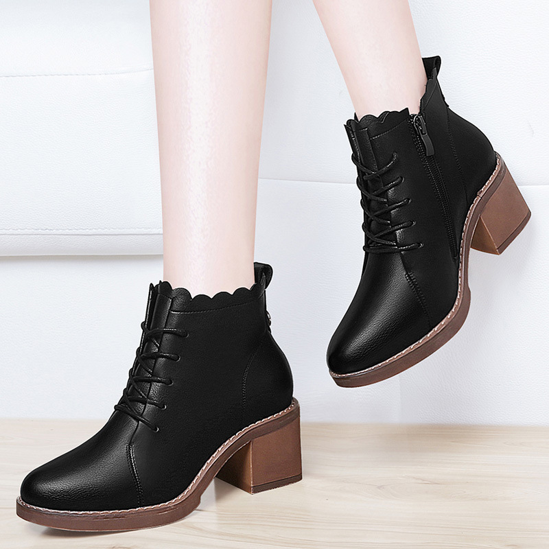Gucci Tianlun Boots Student 2019 Autumn And Winter New Style Martin Boots Women's British-Style Short Boots High-heeled Shoes Ve