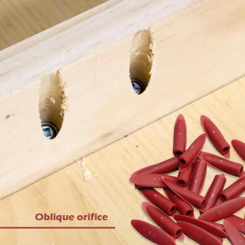 100 pièces plastique bois bouchons poche trou gabarit Kit pour bois scie cloche 9.5mm étape forets poche bouchons vis bois accessoire