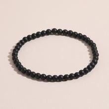 Браслет oaiite из натурального черного матового камня с бусинами
