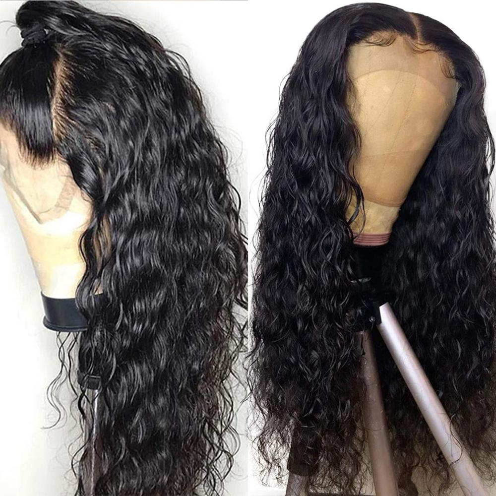 Water Wave Wig Lace Front Wig Arabella 100%  Wigs 13*4 Wig 180% Density Pre Plucked  Hair Lace Frontal Wig 1
