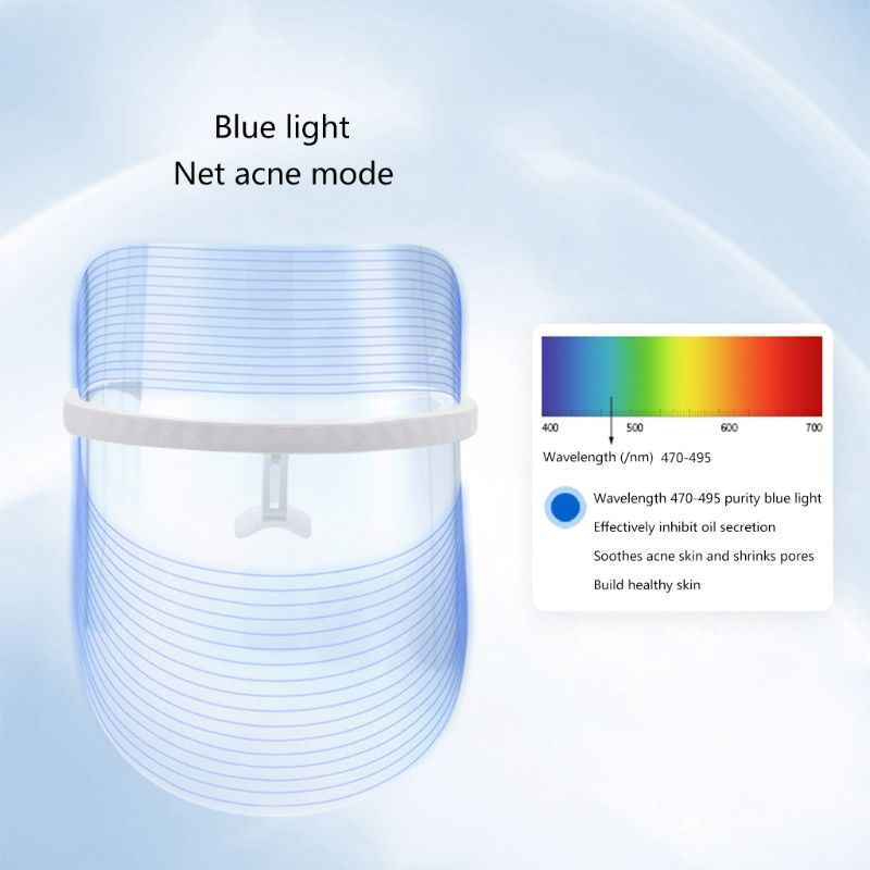 3 لون ضوء العلاج قناع الوجه مكافحة حب الشباب التجاعيد جهاز للعناية بالوجه جهاز تجديد الجلد ترطيب LED قناع الجمال