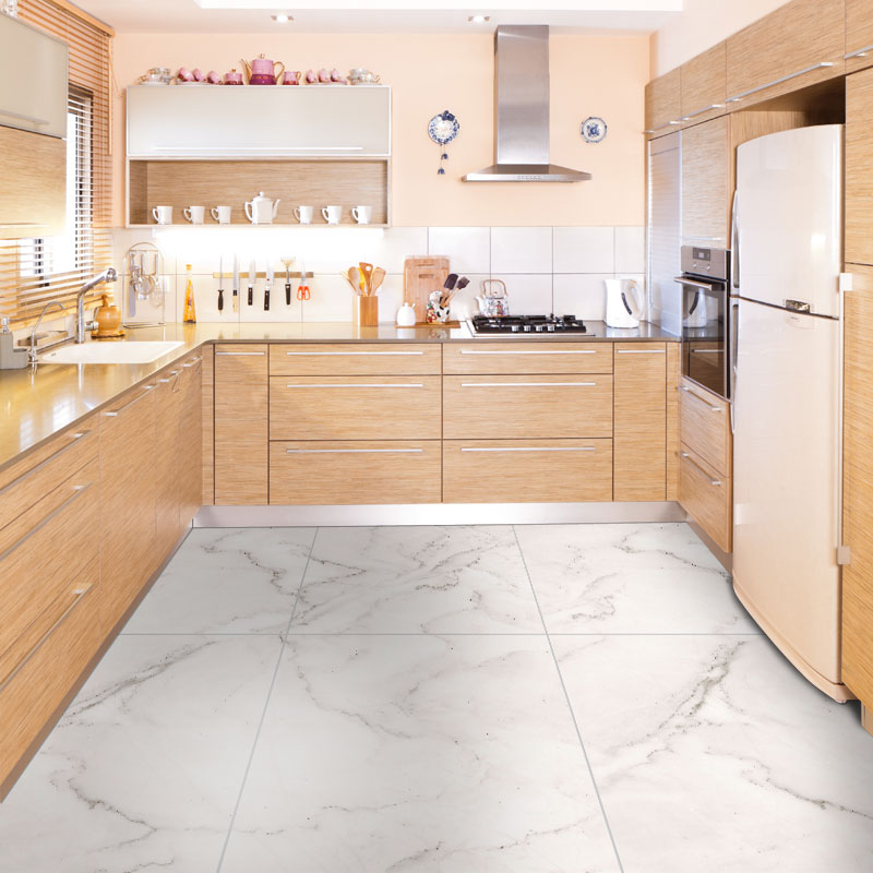 Self-adhesive Marble Floor Tile Wall Sticker PVC Oil-proof Waterproof For Home Living Room Bedroom Kitchen Bathroom DMT-002