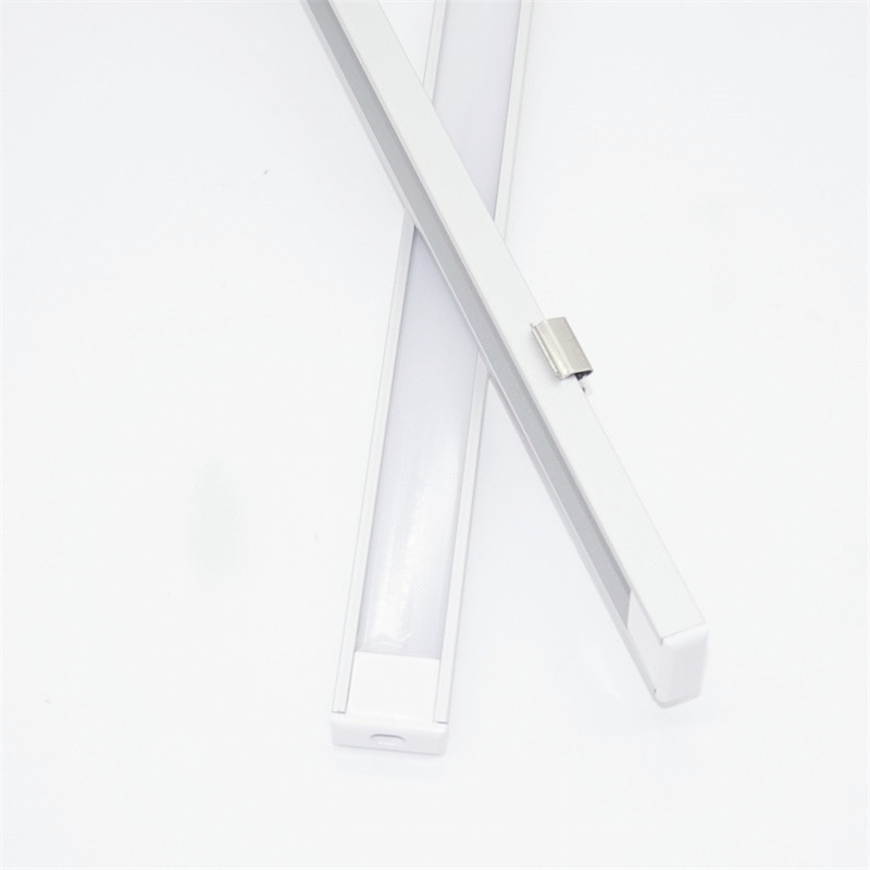 20 inç 0.5 m/adet, LED alüminyum profil mat difüzör düz ultra ince LED kanal için 12mm pcb, 5V 12V 24V bant ışık konut