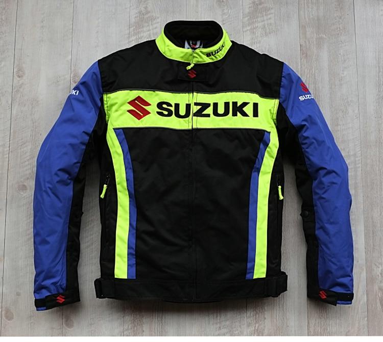 Nova Chegada 2019 Homens Da Motocicleta Jaquetas de Corrida para SUZUKI Offroad Motocross Equitação à prova de Vento Quente Jaqueta com 5pcs Protetores