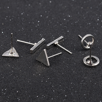 2020 fashion Trendy jewelry accessories 3pcs/Set Women Simple Alloy Cubic round Triangl Geometric Shaped Stud Earrings Gold 1