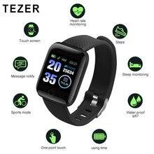 116 plus montres intelligentes hommes moniteur de fréquence cardiaque D13 Bracelet intelligent Sport Tracker podomètre Bracelet 116 plus haute résolution