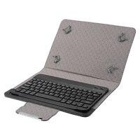 Tastiera compatibile con Bluetooth custodia protettiva in PU lavabile multifunzionale classica per Tablet 9 da 10 pollici per iOS Windows Android