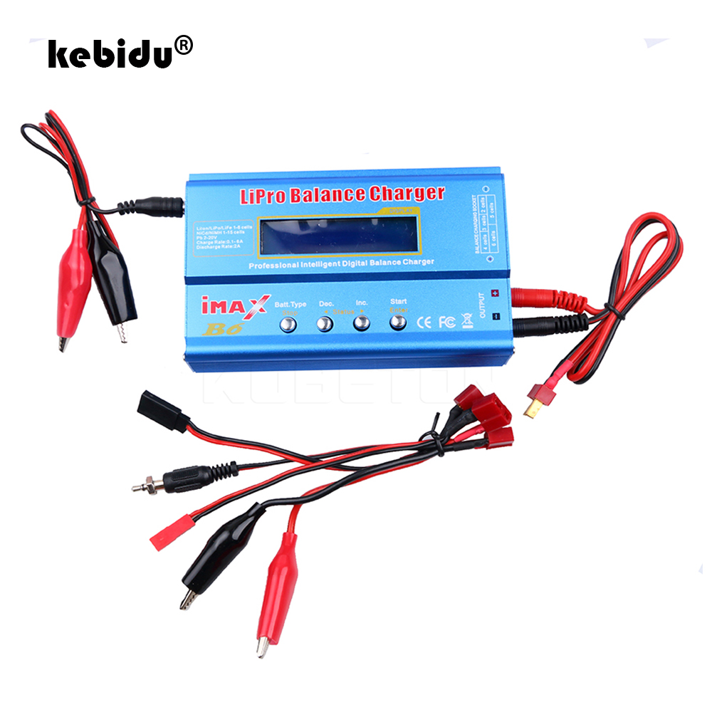 Kebidu-cargador Digital iMAX B6 Lipro NiMh Li-ion ni-cd RC, descargador con pantalla LED