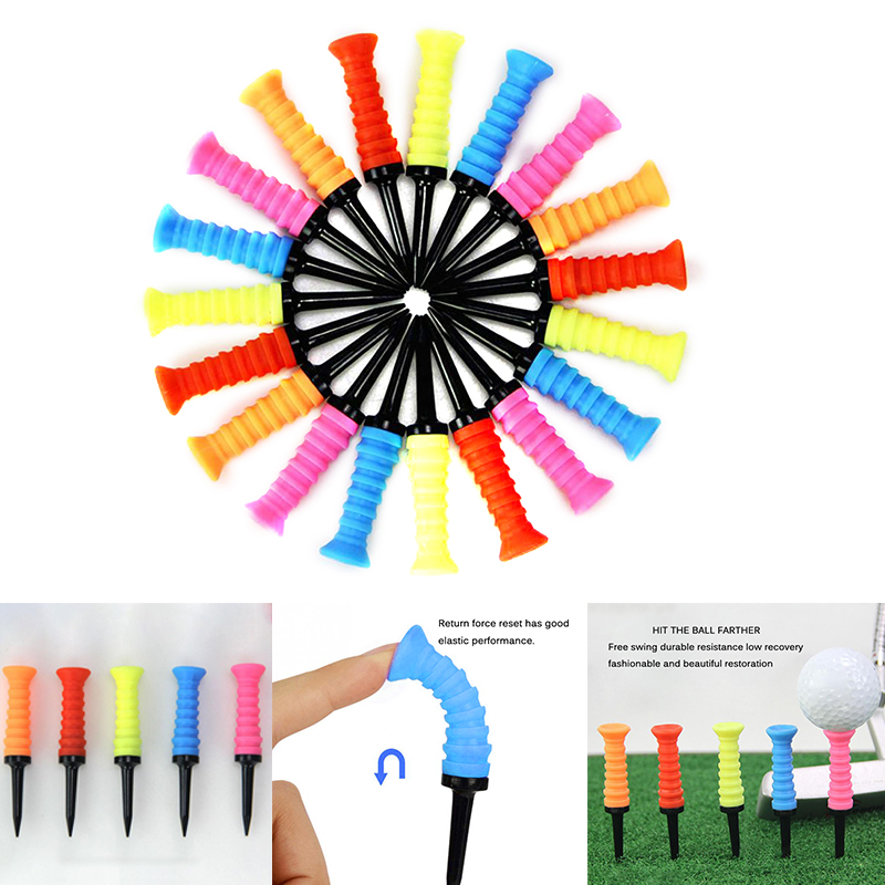 Professional Exercises Ball Holder Practical Training Aids Portable Golfing Golf Tees Elastic Sport Multicolored Supplies