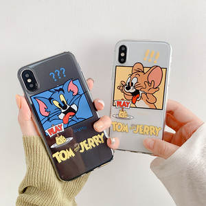 Funny Cat And Mouse 8plus Apple X's MAXx r Fun X78 P Couples 6 S Silicone Phone Case Applicable