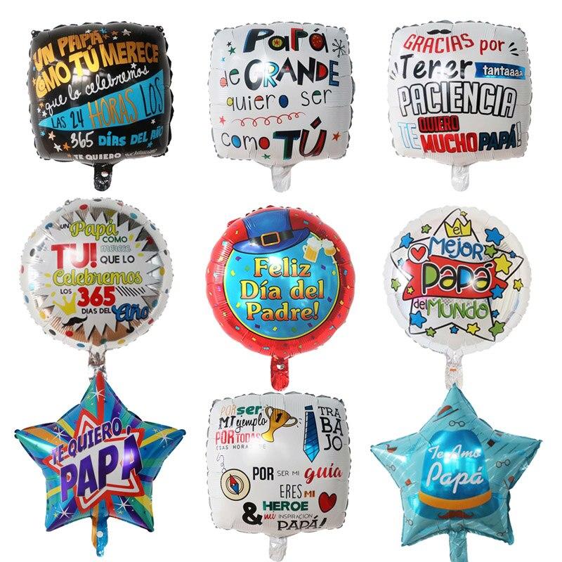 10 pçs/set 18 polegada espanhol feliz dia dos pais feliz dia da folha balões papai papai hélio globos festa decoração presente baloes