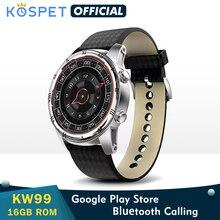 Смарт часы KW99 мужские с поддержкой Bluetooth, 1,39 дюйма, AMOLED, пульсометром, шагомером, Wi Fi, 3G, Android