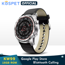 """KW99 Smart Watch For Men Support Bluetooth Call 1.39"""" AMOLED Heart Rate Monitor Pedometer WIFI 3G Android Smartwatch GPS Phone"""