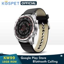 """KW99 akıllı saat erkekler için destek Bluetooth çağrı 1.39 """"AMOLED nabız monitörü pedometre WIFI 3G Android akıllı saat GPS telefon"""