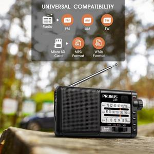 Image 3 - PRUNUS נייד רדיו מקלט AM FM/SW רטרו בגלים קצרים רדיו AUX/TF כרטיס MP3 לשחק נטענת רדיו עם DSP 2200mAh סוללה