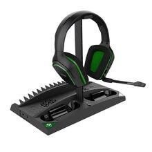 Ipega jogo vertical suporte 6 em 1 multifuncional ventilador de refrigeração fone ouvido base carregamento para xbox um/xbox um x/xbox um s