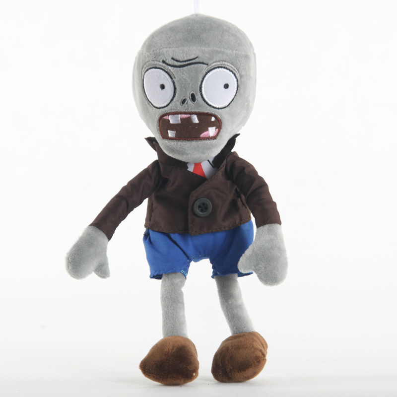Plant Vs Zombies Grey Zombie Plush Doll Stuffed Toys