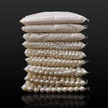 4/6/8/10/12/14/16mm pearl koraliki ABS luźne kule Craft dla moda tworzenia biżuterii biały beż DIY sztuczna...