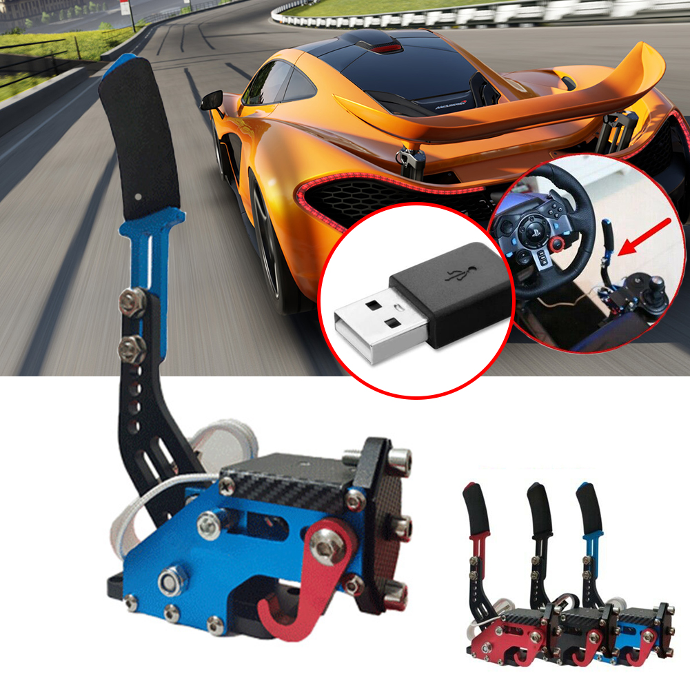 Universal 14Bit Control Sensor Replacement Adjustable Height Easy Install USB Handbrake Drift Auto For Racing Games G25/27/29 image