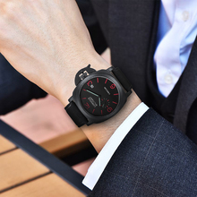 KIMSDUN  Leather Band Mens Watches Casual Waterproof Luminous chronograph Quartz Watch reloj hombre relogio masculino