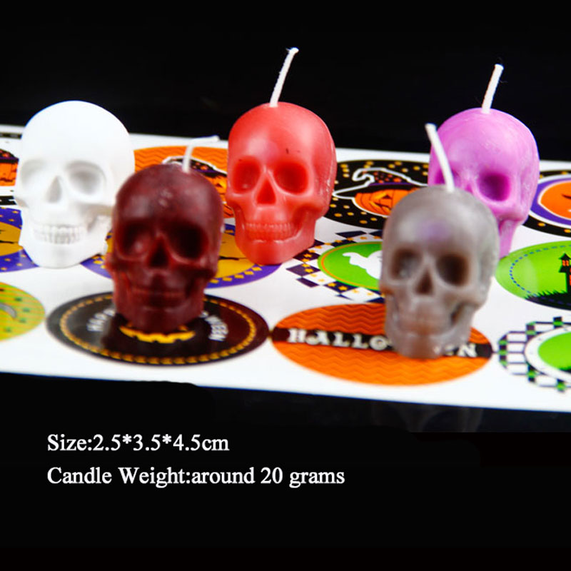 Halloween Party Accessories 3D Skull Silicone Candle Mold For DIY Handmade Craft Candle Making Mould