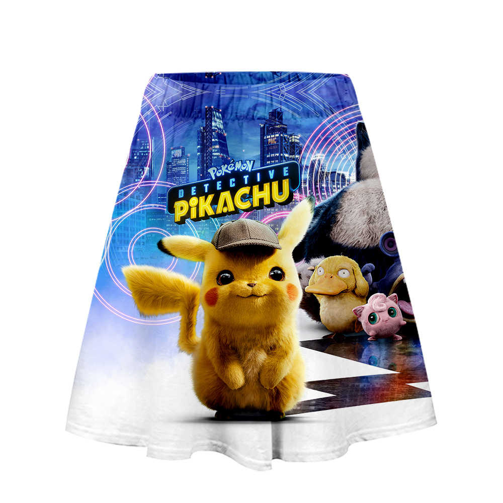 Film Pokemon Detektiv Pikachu 3D Kurzen Rock Mädchen Casual Sommer Trend Mode frauen Casual Rock Kühlen Sommer Mode Stil
