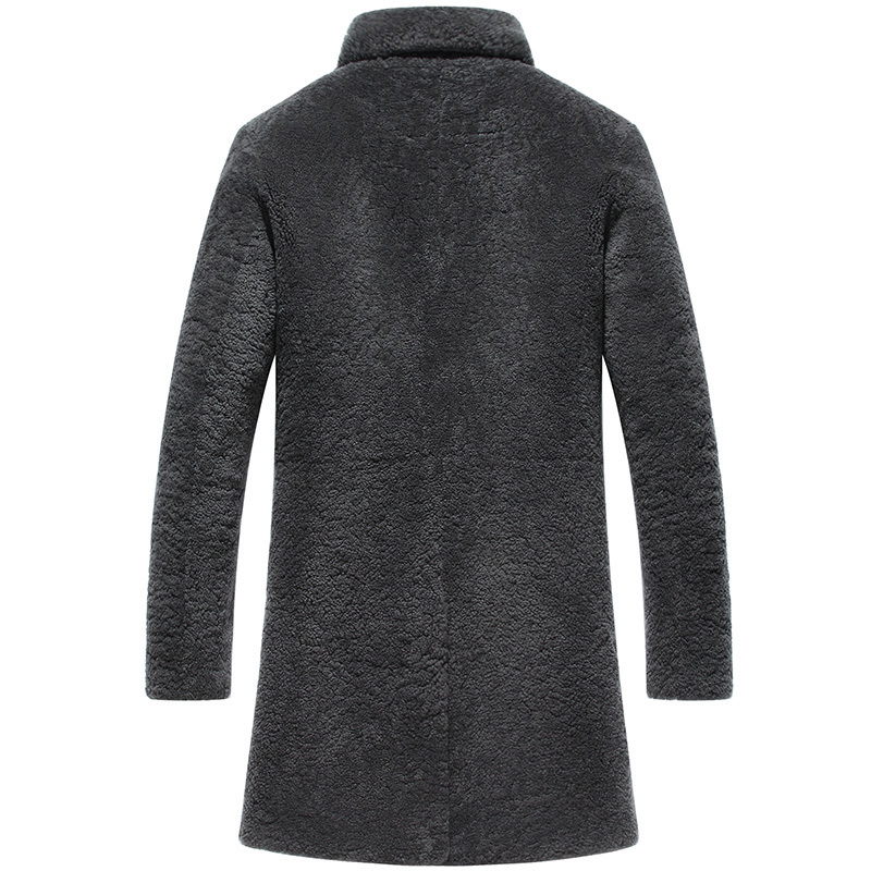 Men's Winter Jacket Real Fur Coat Men Shearling Wool Coat Luxury Jackets Male Long Coats Natural Fur Erkek Mont KJ797
