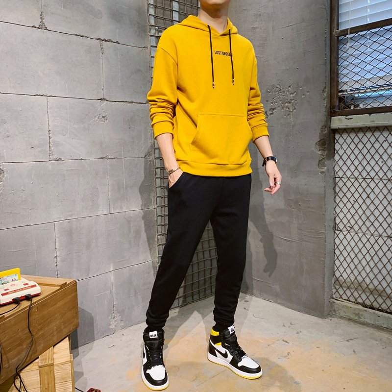 Spring, Autumn And Winter New Style Men's Casual Hooded Set, Fashion Street, Korean-style MEN'S Sport Suit