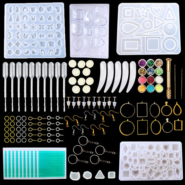 Big Offer 2634 Silicone Resin Kits Jewelry Casting Mold Tools Set Included Jewelry Pendant Moulds Stud Earrings Eye Screw Pins And Making Cicig Co
