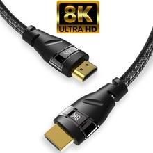 Кабель HDMI 2,1 медный 30AWG 4K @ 120 Гц HDMI 2,1 высокоскоростной 8K @ 60 Гц UHD HDR 48 Гбит/с кабель HDMI конвертер для PS4 HDTVs проекторов