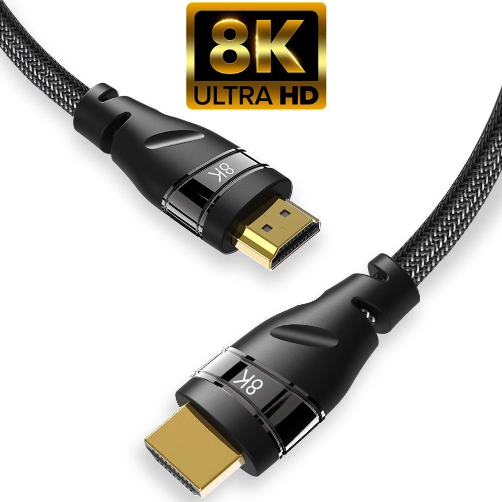 HDMI-compatibe 2,1 кабель медь 30AWG 4K @ 120Hz высокоскоростной 8K @ 60 HZ UHD HDR 48gbps кабель конвертер для PS4 HDTV проекторов